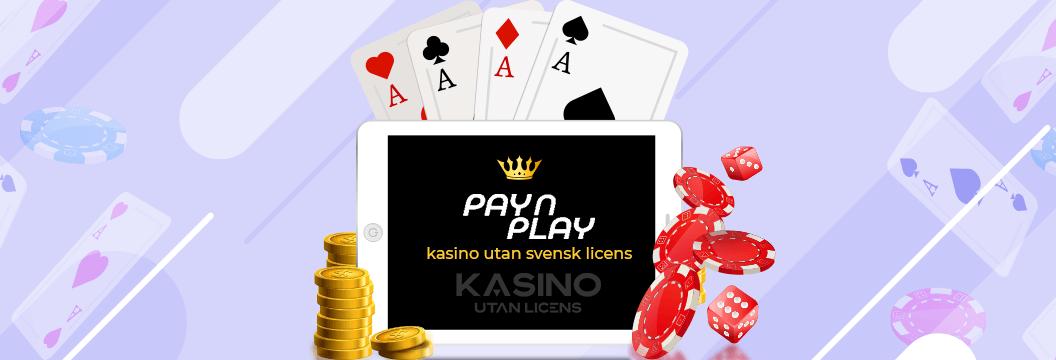 Pay N Play kasino utan svensk licens logga