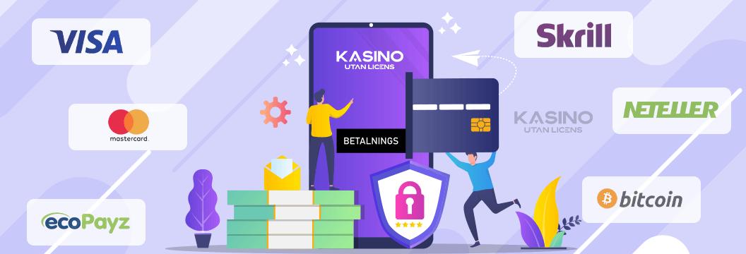 kasino utan licens betalningsmetoder banner