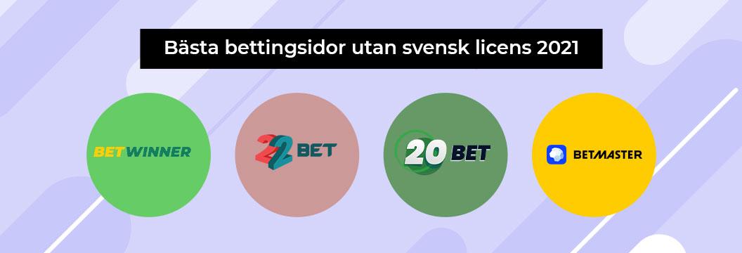 Bästa bettingsidor utan svensk licens banner