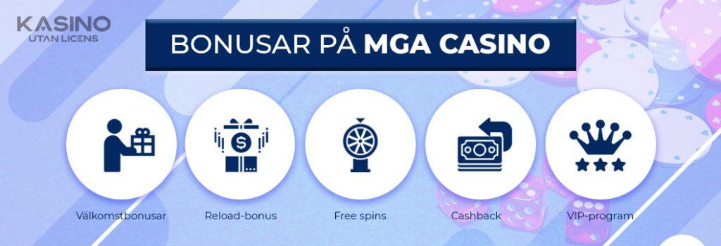 MGA casino bonusar logga
